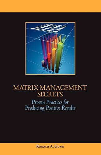 Matrix Management Secrets: Gunn, Ronald