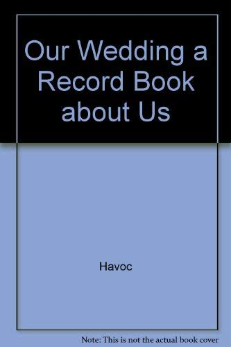 Wedding Cake Record Book: Record Book (074161961X) by Havoc