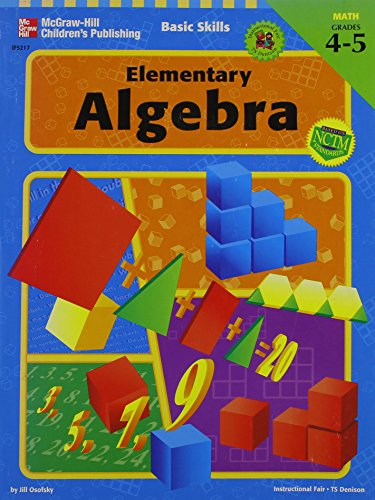 9780742402386: Basic Skills Series: Elementary Algebra, Grades 4 to 5
