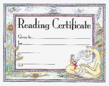 9780742403239: Reading Award Certificate (Award Certificates)