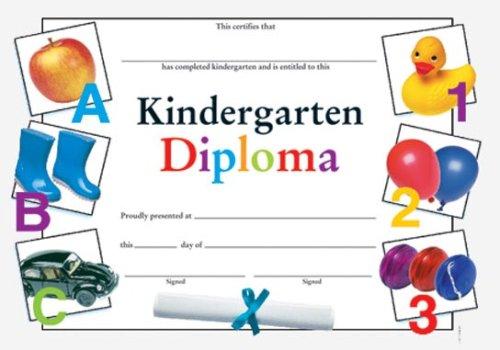 9780742403468: Kindergarten Diploma Fit-in-a-Frame Award (Award Certificates)