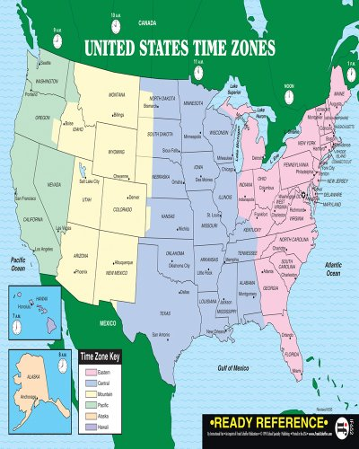 9780742407305: U.S. and World Maps with Time Zones Ready Reference ...