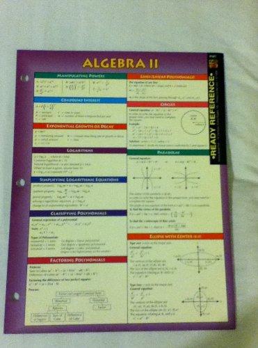 9780742407862: Algebra II Ready Reference