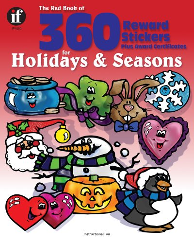 9780742409583: The Red Book of 360 Reward Stickers for Holidays and Seasons, Grades PK - 6