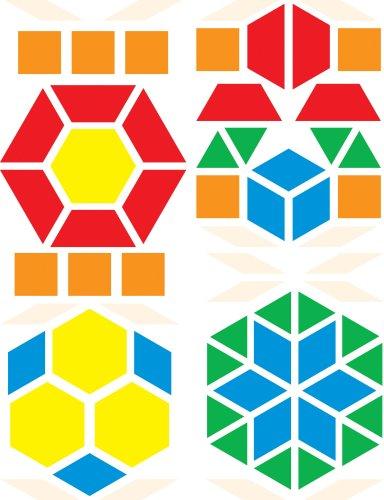 9780742416260: Pattern Blocks Bulletin Board Set