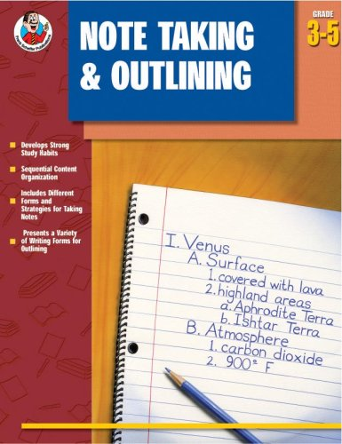 9780742418301: Note Taking & Outlining, Grades 3 - 5