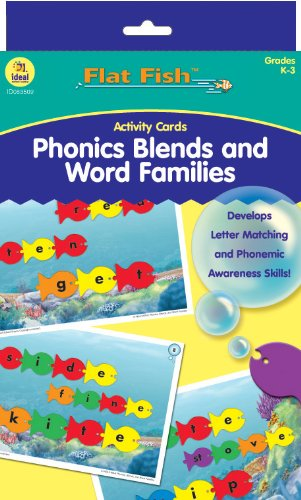 9780742431096: Phonics Blends and Word Families: Develops Letter Matching and Phonemic Awareness Skills! (Flat Fish, Activity Cards)