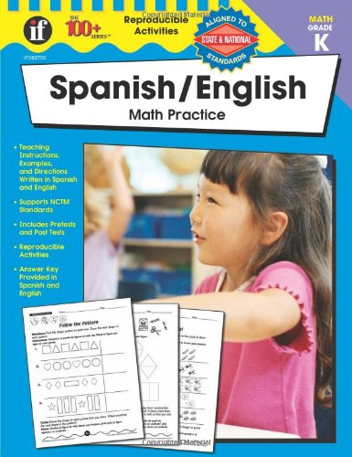 9780742433007: 100+ Series: Spanish / English Math Practice, Grade K (Spanish and English Edition)