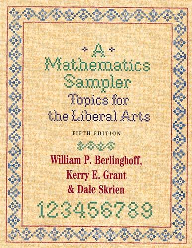9780742502024: A Mathematics Sampler: Topics for the Liberal Arts