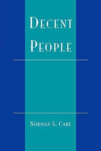 9780742507098: Decent People
