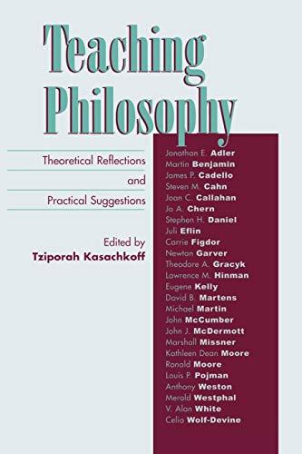 Teaching Philosophy: Tziporah Kasachkoff (editor),
