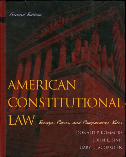 9780742526877: American Constitutional Law: Essays, Cases, and Comparative Notes, Volumes 1 & 2