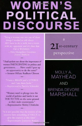 Women's Political Discourse: A 21st Century Perspective: Mayhead, Molly A./ Marshall, Brenda ...