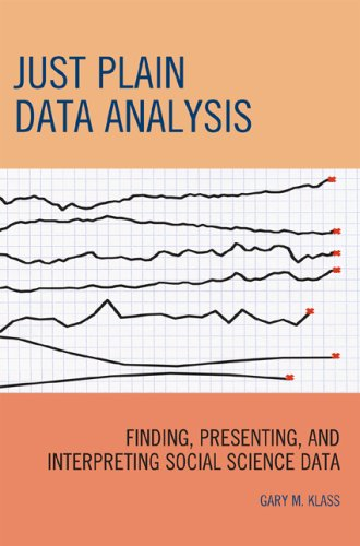 9780742560529: Just Plain Data Analysis: Finding, Presenting, and Interpreting Social Science Data