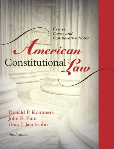 9780742563667: American Constitutional Law: Essays, Cases, and Comparative Notes (Volumes 1 and 2)
