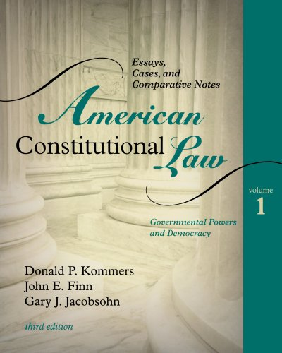 9780742563674: American Constitutional Law: Essays, Cases, and Comparative Notes, Volume 1