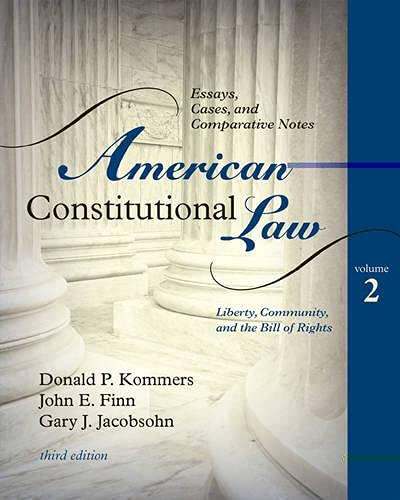 9780742563681: American Constitutional Law: Essays, Cases, and Comparative Notes (Volume 2)