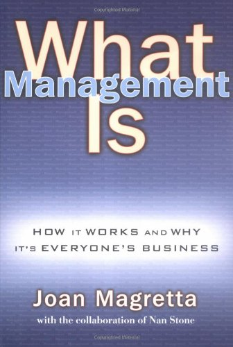 9780743203180: What Management is: How it Works and Why it's Everyone's Business