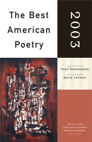 9780743203876: The Best American Poetry 2003: Series Editor David Lehman