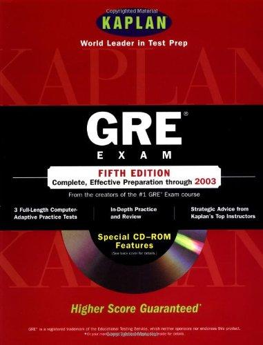 9780743205269: Kaplan GRE Exam with CD-ROM, Fifth Edition: Higher Score Guaranteed (Kaplan GRE Premier Program (W/CD))