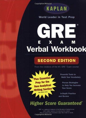 9780743230599: Kaplan Gre Verbal Workbook