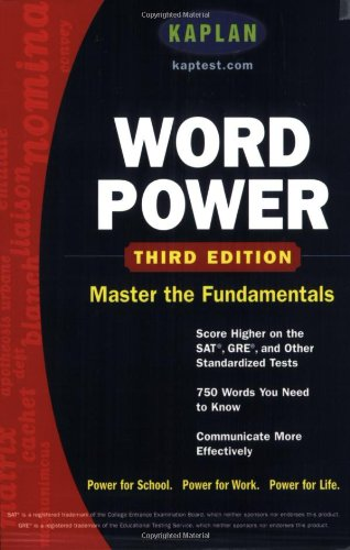9780743241151: Kaplan Word Power: Score Higher on the SAT, GRE, and Other Standardized Tests