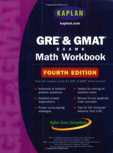 9780743241298: Kaplan GRE and GMAT Exams Math Workbook (Kaplan Gmat Math Workbook)