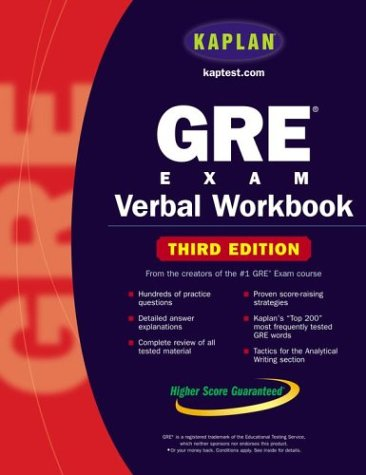 9780743241304: Kaplan GRE Exam Verbal Workbook (Kaplan Gre Verbal Workbook)