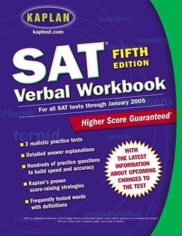 9780743241342: Kaplan SAT Verbal Workbook: Fifth Edition (Kaplan SAT Critical Reading Workbook)