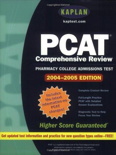 9780743247559: Kaplan PCAT: 2004-2005 Edition