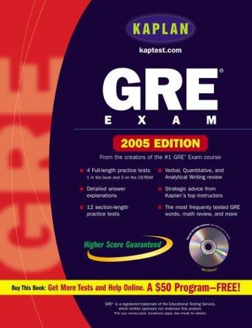 9780743251709: Kaplan GRE Exam 2005 With CD-ROM