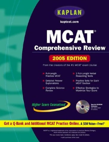 9780743252058: Kaplan MCAT Comprehensive Review with CD-ROM, 2005 Edition (Kaplan MCAT Premier Program (W/CD))