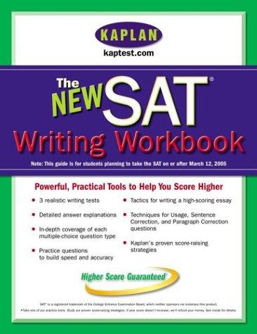 9780743260336: Kaplan New SAT Writing Workbook
