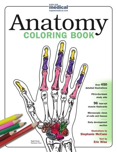 9780743264242: Kaplan Anatomy Coloring Book