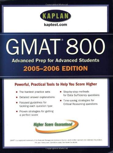 9780743265287: Kaplan GMAT 800, 2005-2006