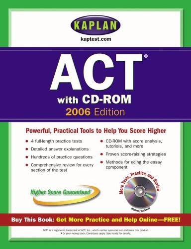 9780743265744: Kaplan ACT 2006 with CD-ROM (Kaplan ACT Premier Program)