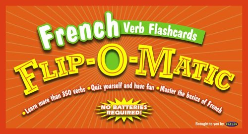 9780743271424: Kaplan French Verb Flashcards Flip-O-Matic (French Edition)