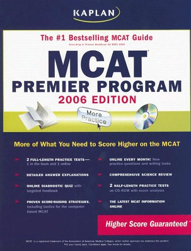 MCAT 2006 Premier Program (Kaplan MCAT Premier Program (W/CD)) (0743272218) by Kaplan