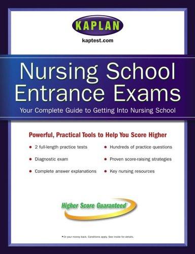9780743273367: Kaplan Nursing School Entrance Exams