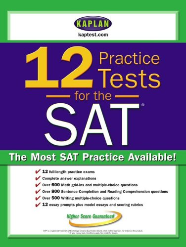 9780743273374: Kaplan 12 Practice Tests for the SAT
