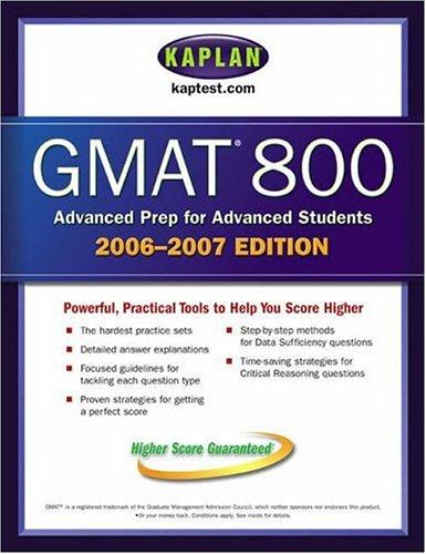 9780743279314: Kaplan GMAT 800, 2006-2007