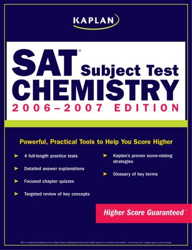 9780743279468: Kaplan SAT Subject Test: Chemistry 2006-2007 (KAPLAN SAT SUBJECT TESTS)