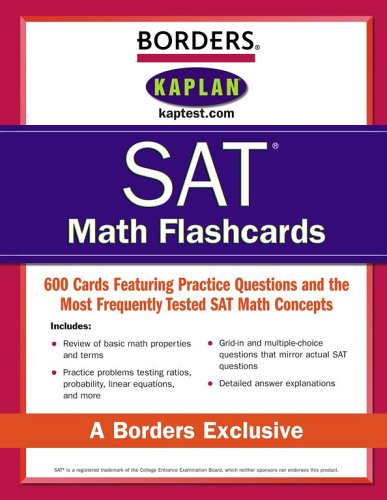 Borders SAT Math Flashcards: Kaplan