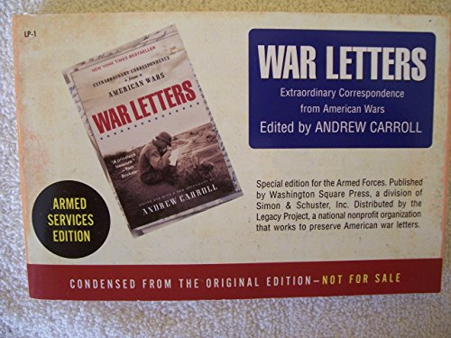 War Letters Armed Forces Edition (0743453115) by Carroll, Andrew