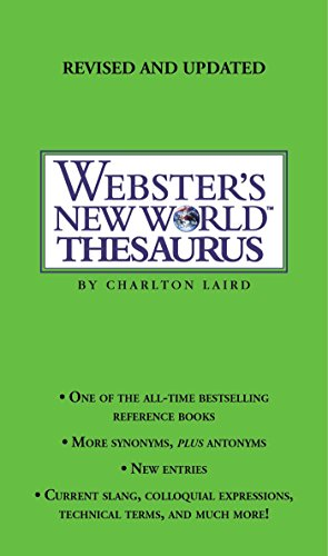 9780743470711: Webster's New World Thesaurus: Third Edition: Pocket Edition