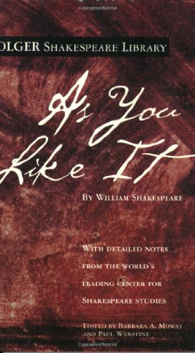 9780743484862: As You Like It (Folger Shakespeare Library)