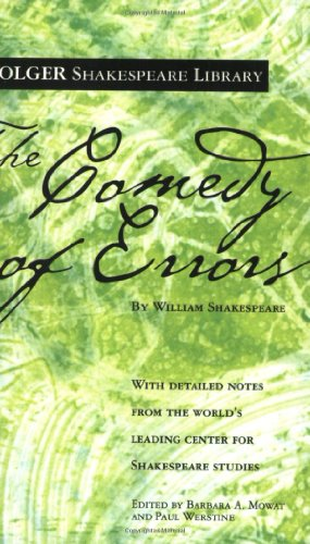 9780743484886: The Comedy of Errors (Folger Shakespeare Library)
