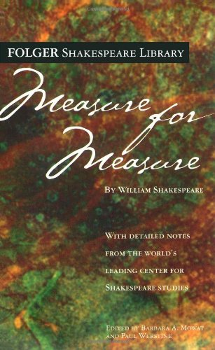 9780743484909: Measure for Measure (Folger Shakespeare Library)