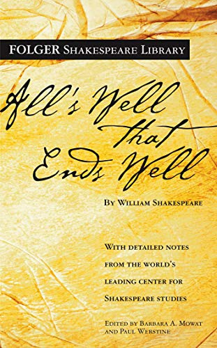 9780743484978: All's Well That Ends Well (Folger Shakespeare Library)