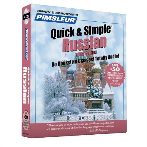 9780743506182: Pimsleur Russian Quick & Simple Course - Level 1 Lessons 1-8 CD: Learn to Speak and Understand Russian with Pimsleur Language Programs
